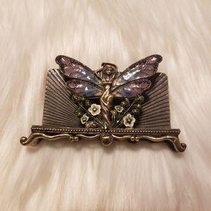 Vintage Brass Fairy Holder